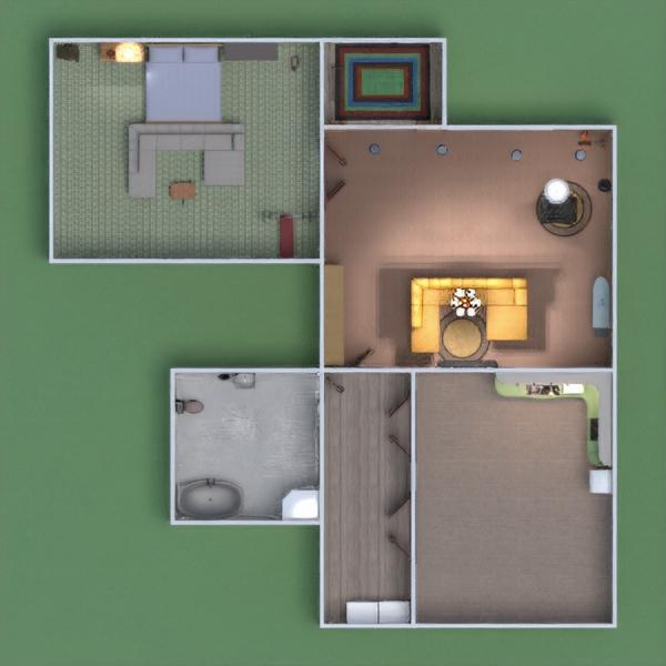 floorplans casa mobílias casa de banho dormitório quarto 3d
