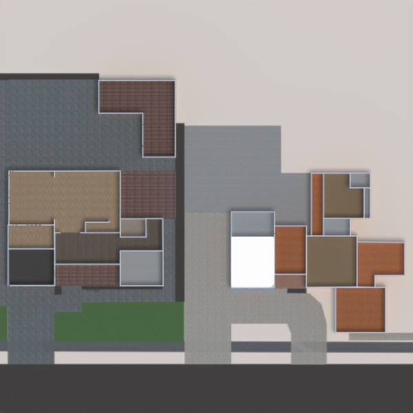 floorplans haus terrasse wohnzimmer küche büro 3d
