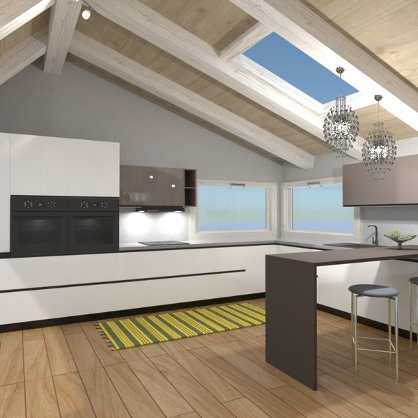 floorplans furniture kitchen lighting dining room 3d