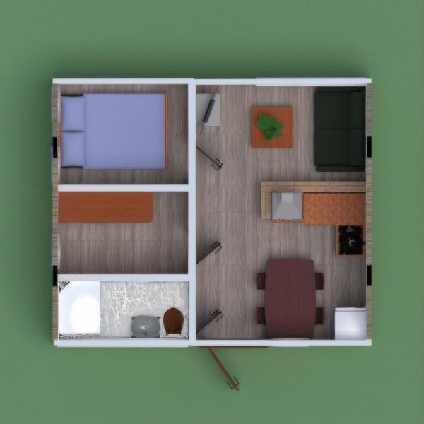 floorplans apartment house outdoor 3d