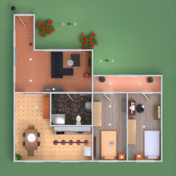 floorplans namas baldai dekoras vonia miegamasis svetainė virtuvė apšvietimas namų apyvoka valgomasis 3d