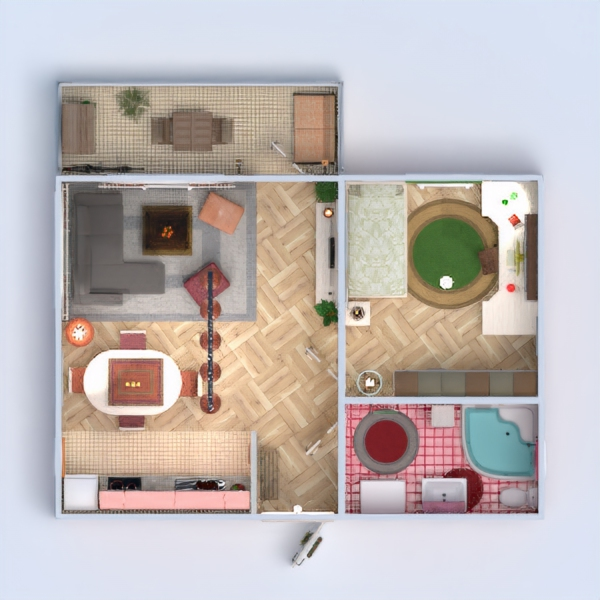floorplans apartment house terrace furniture decor bathroom bedroom living room kitchen office lighting household dining room architecture storage studio entryway 3d