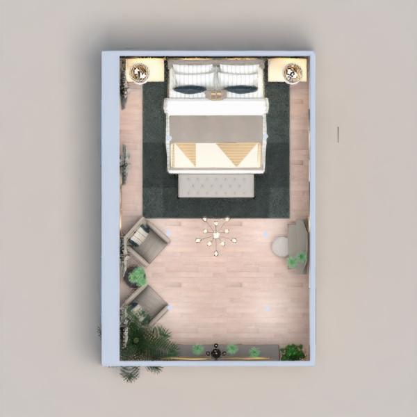floorplans meubles décoration chambre à coucher salon eclairage 3d