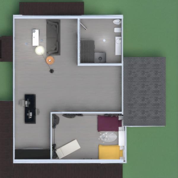 floorplans casa quarto escritório utensílios domésticos arquitetura 3d