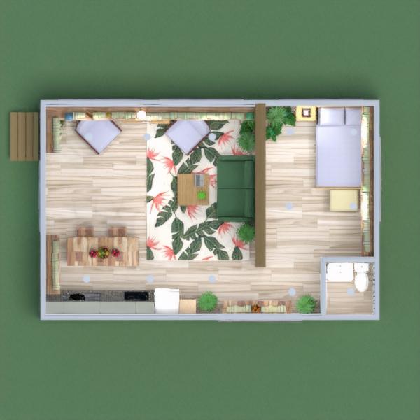 floorplans casa camera da letto cucina sala pranzo 3d