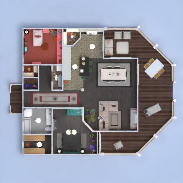 floorplans casa varanda inferior mobílias decoração faça você mesmo casa de banho dormitório quarto cozinha área externa quarto infantil iluminação paisagismo sala de jantar 3d