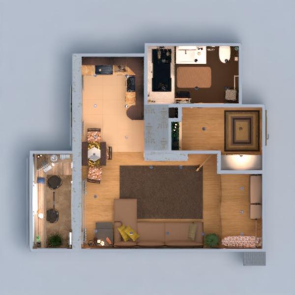 planos apartamento muebles decoración bricolaje cuarto de baño dormitorio salón cocina despacho iluminación reforma hogar comedor trastero estudio descansillo 3d