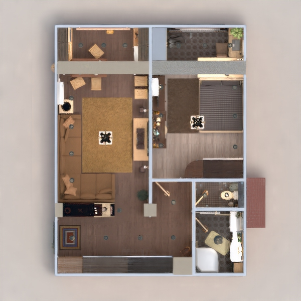 floorplans wohnung mobiliar dekor do-it-yourself badezimmer schlafzimmer wohnzimmer küche büro beleuchtung renovierung lagerraum, abstellraum studio eingang 3d