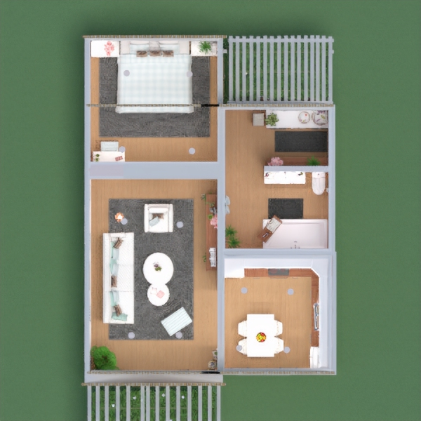floorplans maison chambre à coucher cuisine salle à manger 3d