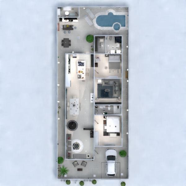 floorplans haus badezimmer wohnzimmer küche 3d