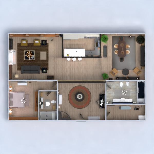 floorplans apartamento muebles decoración cuarto de baño dormitorio salón cocina iluminación hogar trastero estudio descansillo 3d