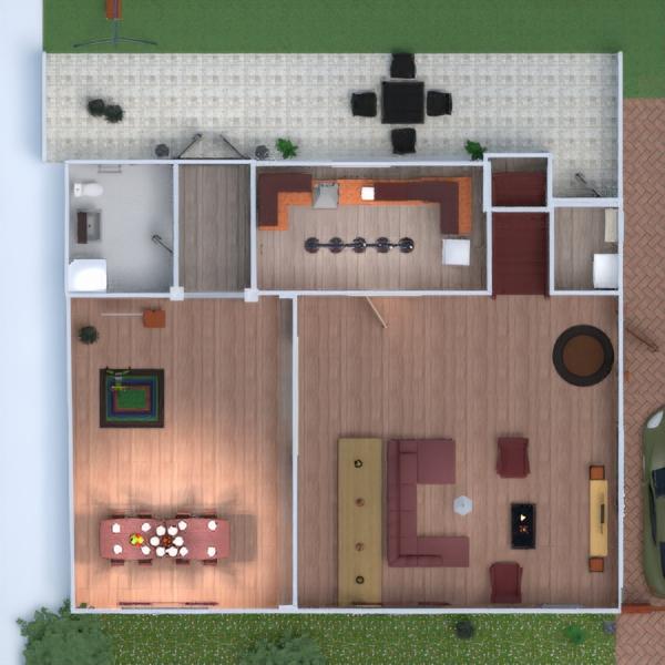 floorplans haus terrasse dekor do-it-yourself wohnzimmer 3d
