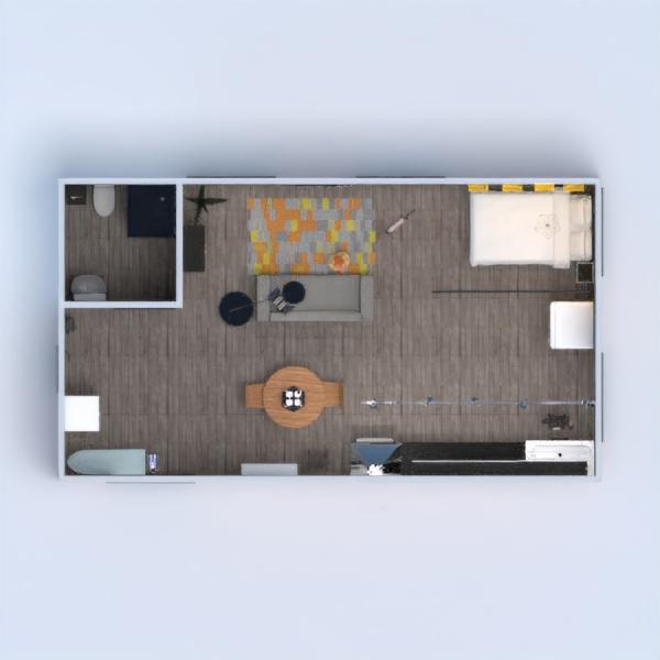 floorplans apartment bedroom living room kitchen studio 3d