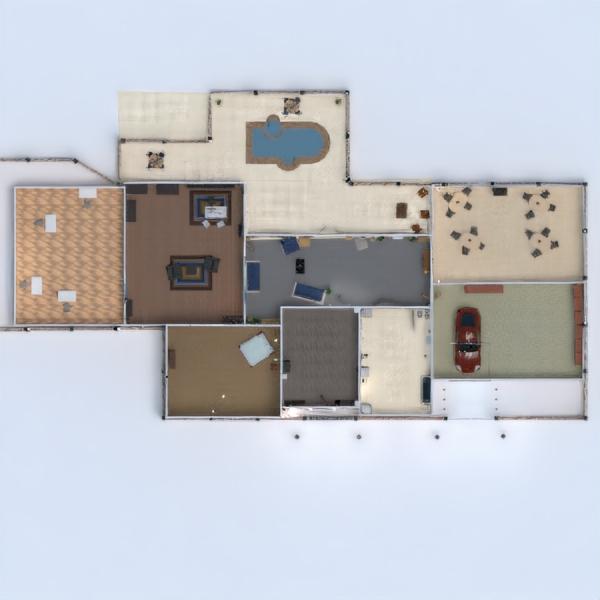 floorplans namas terasa baldai dekoras vonia miegamasis svetainė virtuvė biuras namų apyvoka valgomasis 3d