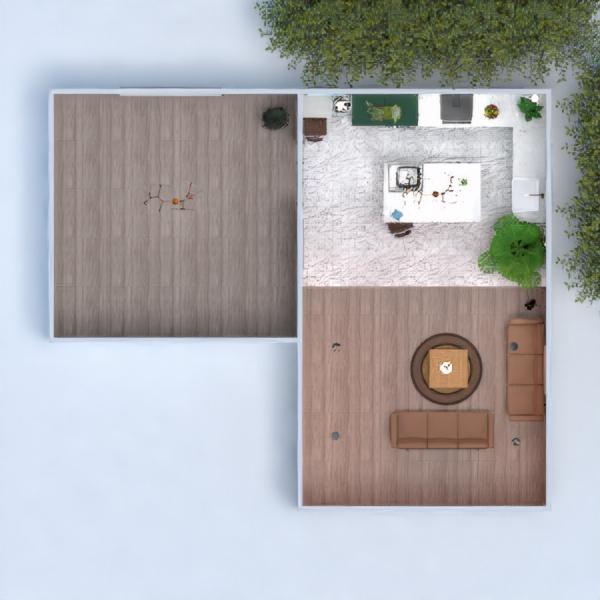 floorplans casa quarto cozinha iluminação 3d