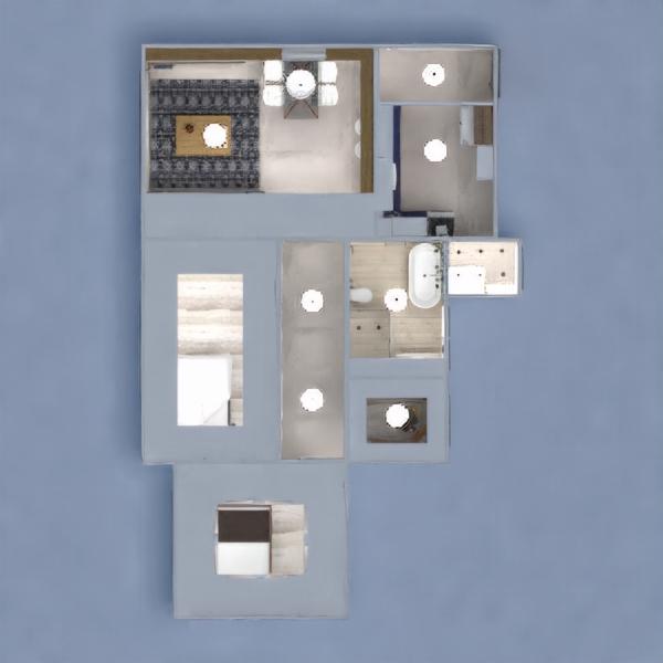 floorplans appartement décoration chambre à coucher cuisine eclairage architecture 3d