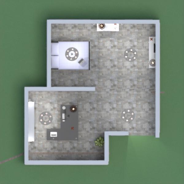 floorplans casa camera da letto cucina studio illuminazione 3d