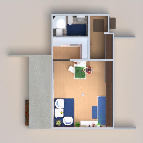 floorplans apartamento varanda inferior casa de banho dormitório quarto cozinha iluminação utensílios domésticos arquitetura estúdio patamar 3d