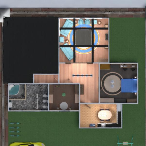 планировки дом мебель спальня гостиная кухня 3d