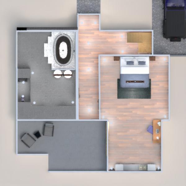 floorplans dom taras na zewnątrz oświetlenie 3d