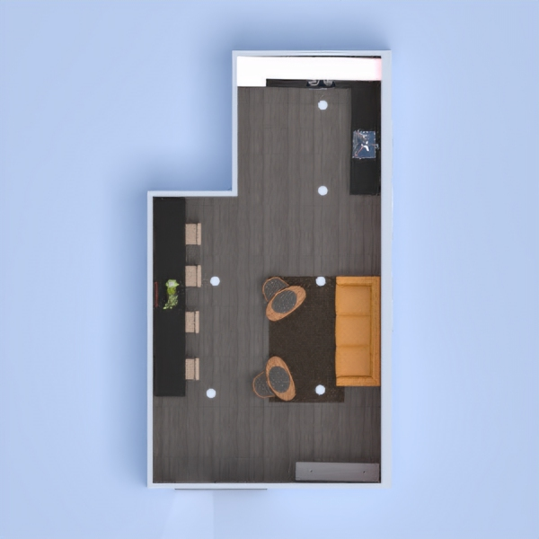 floorplans casa mobílias quarto cozinha sala de jantar 3d