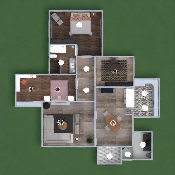 floorplans casa decorazioni bagno camera da letto cucina studio illuminazione sala pranzo architettura vano scale 3d