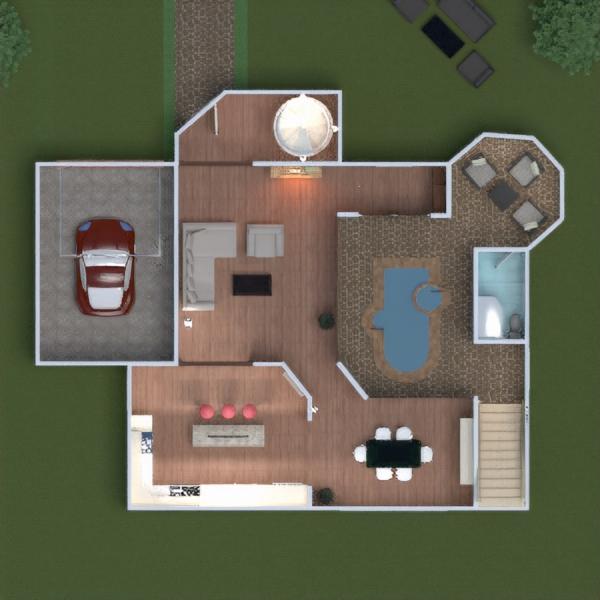 floorplans namas terasa baldai dekoras vonia miegamasis svetainė garažas virtuvė eksterjeras vaikų kambarys apšvietimas renovacija kraštovaizdis namų apyvoka valgomasis аrchitektūra 3d