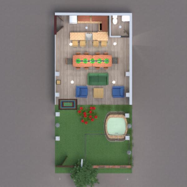 floorplans terrasse extérieur entrée 3d