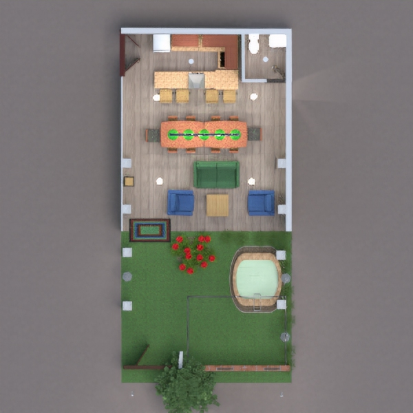 floorplans terrasse outdoor eingang 3d