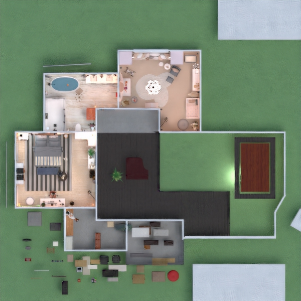 floorplans casa varanda inferior mobílias faça você mesmo quarto 3d