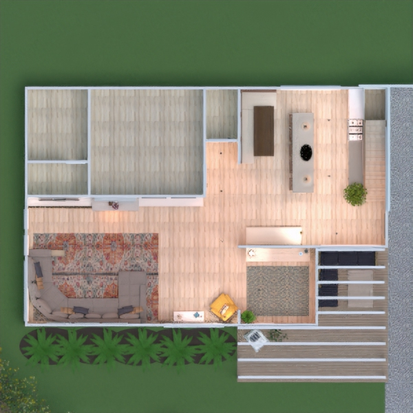 floorplans dom taras meble oświetlenie 3d