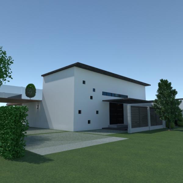 floorplans casa terraza cocina paisaje arquitectura 3d