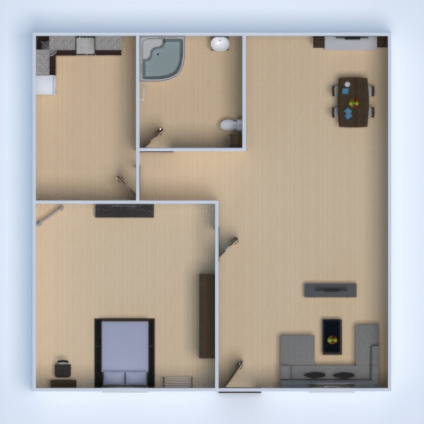 floorplans apartment decor bedroom kitchen dining room 3d