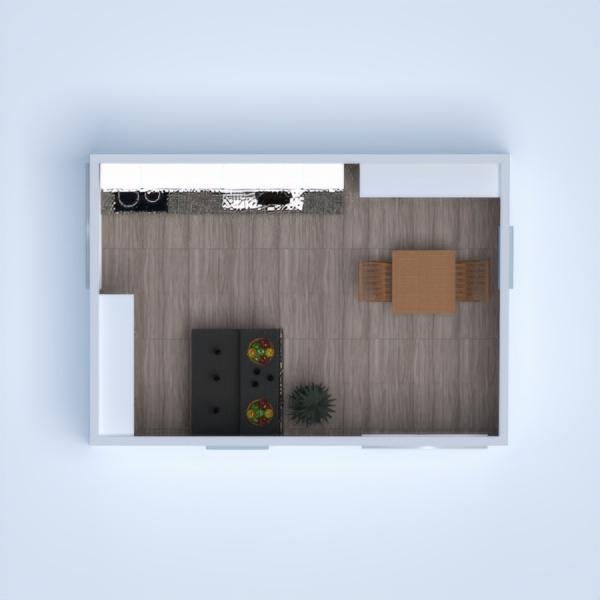 floorplans salle de bains salon cuisine extérieur 3d