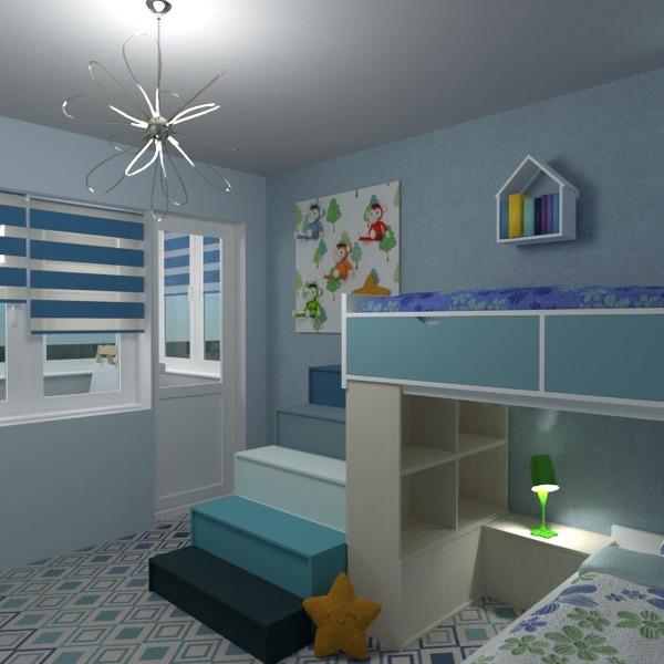 floorplans baldai dekoras vaikų kambarys studija 3d