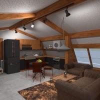 floorplans haus mobiliar schlafzimmer wohnzimmer küche outdoor 3d