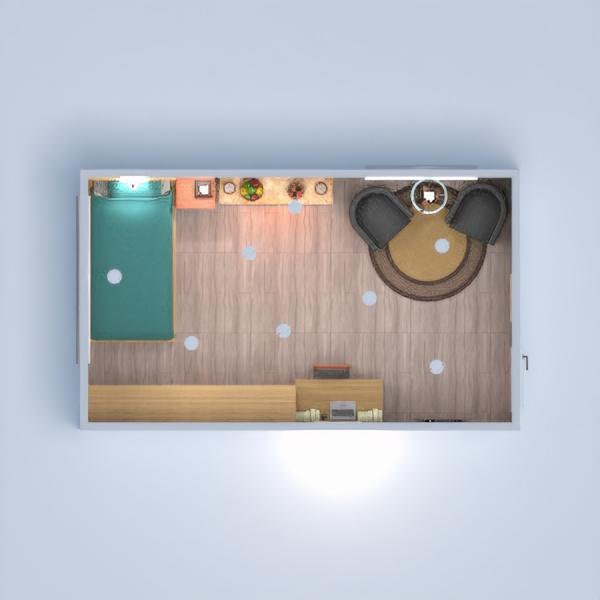 floorplans mieszkanie sypialnia pokój dzienny 3d
