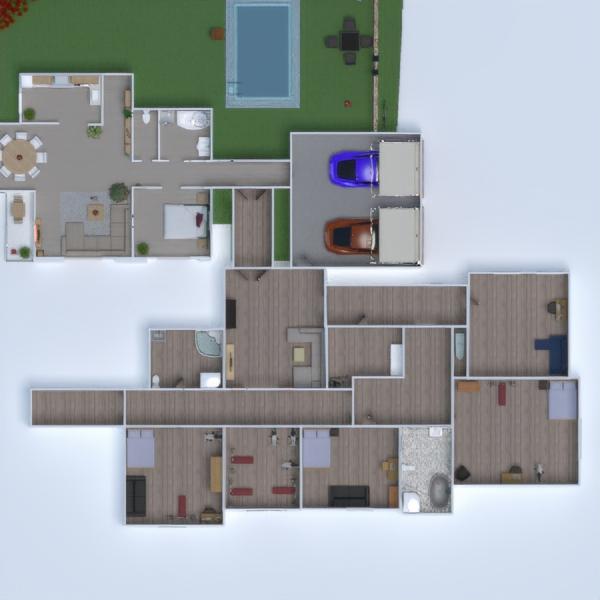 floorplans casa muebles dormitorio cocina exterior 3d