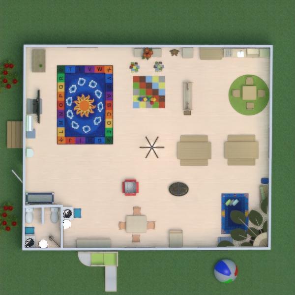 floorplans meubles cuisine chambre d'enfant 3d