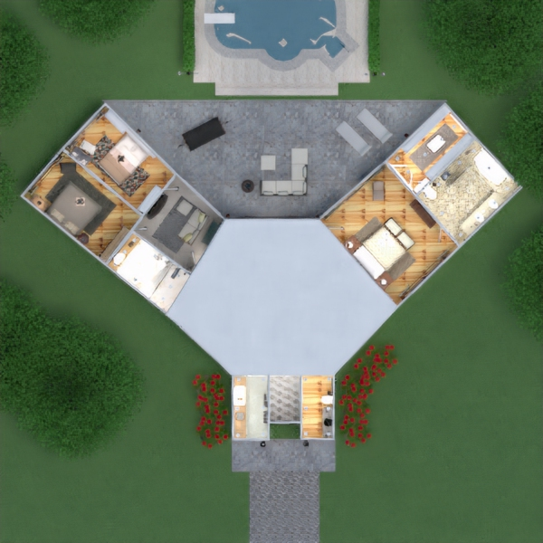 floorplans house terrace furniture decor bathroom bedroom living room kitchen outdoor lighting landscape household cafe dining room architecture storage studio entryway 3d