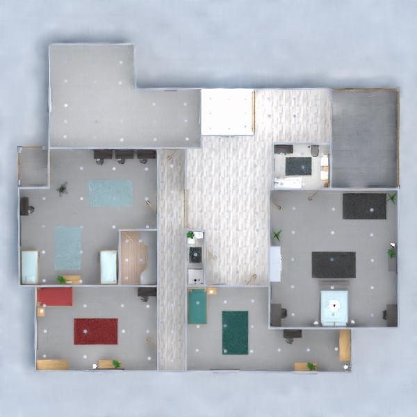 floorplans sypialnia pokój dzienny gospodarstwo domowe jadalnia 3d