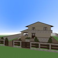 floorplans house terrace garage outdoor 3d