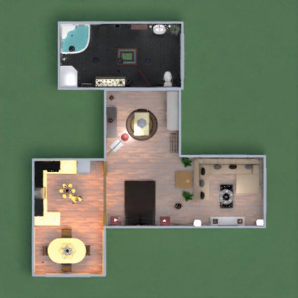 floorplans namas dekoras vonia miegamasis virtuvė 3d