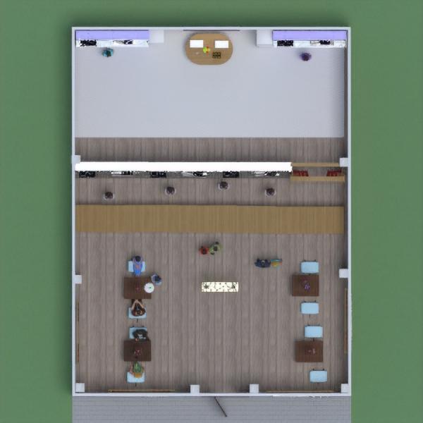 floorplans decoração cozinha iluminação cafeterias sala de jantar 3d