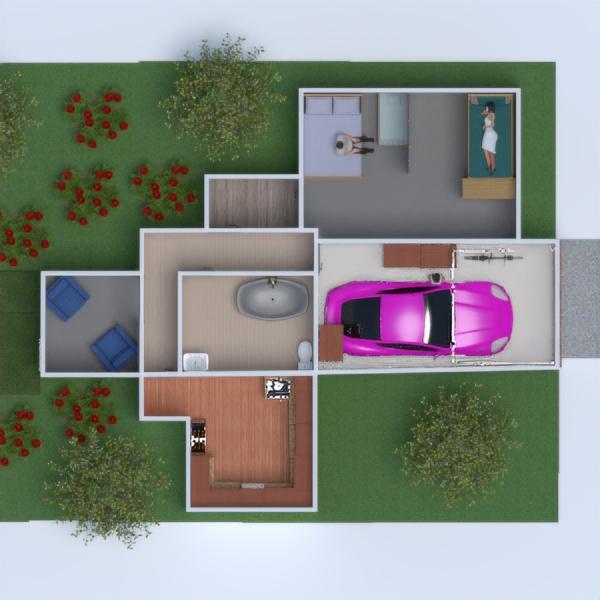 floorplans dom meble łazienka sypialnia 3d
