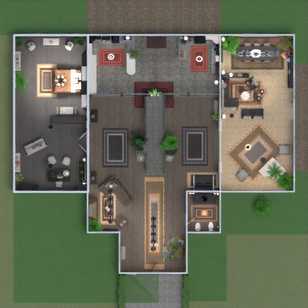floorplans dom meble wystrój wnętrz oświetlenie remont 3d