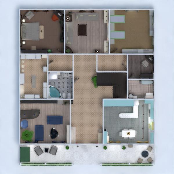 floorplans house kitchen architecture 3d