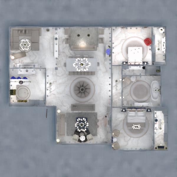 планировки дом ванная спальня гостиная гараж 3d