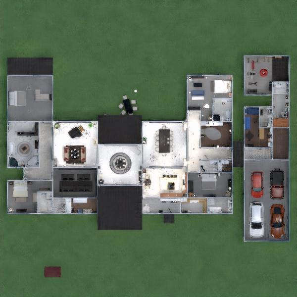 floorplans maison salle de bains garage extérieur 3d