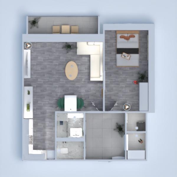 floorplans appartement maison terrasse meubles décoration 3d